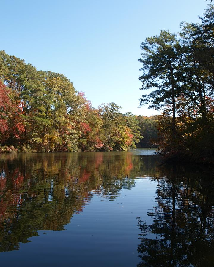 Fall Photograph - Quiet Water by Larry Krussel
