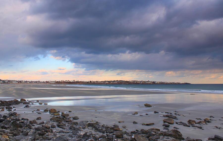 Beach Photograph - Quiet Winter Day At York Beach by John Burk