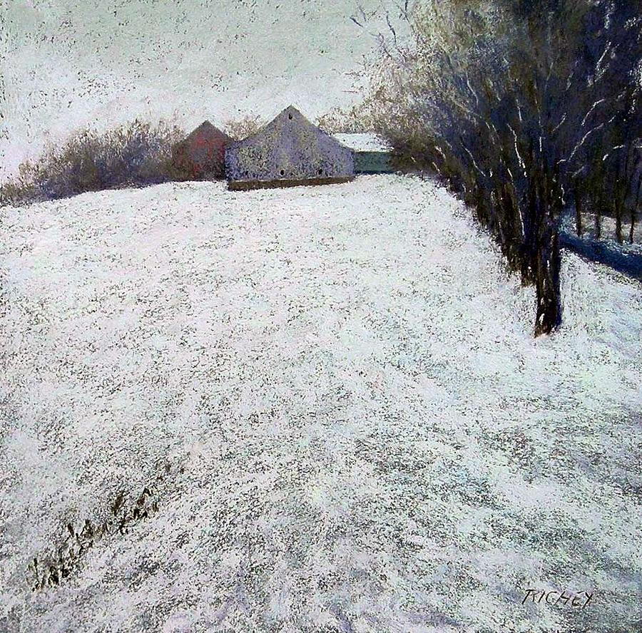 Pastel Pastel - Quiet Winter Day In Bucks County by Bob Richey