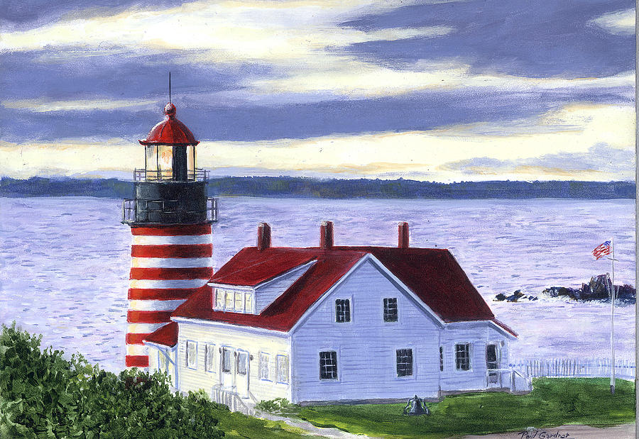 Quoddy Light by Paul Gardner