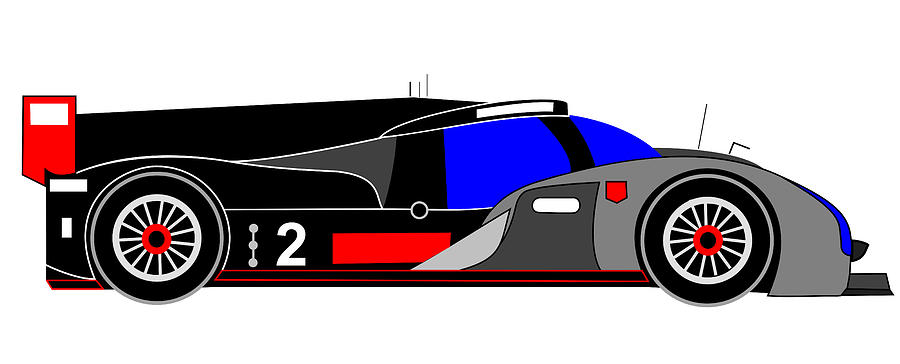 Audi R18 Digital Art - R20 by Asbjorn Lonvig