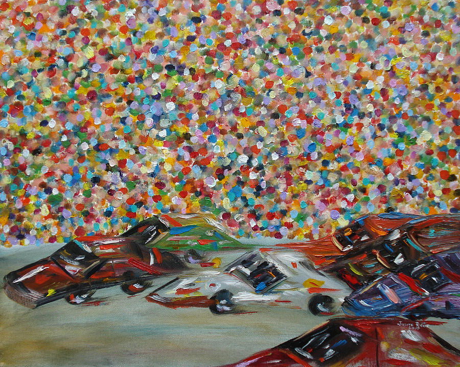 Race Painting - Race Day by Judith Rhue