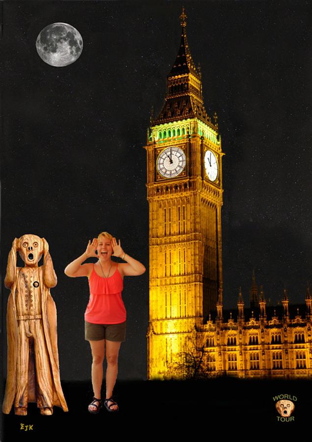 Big Ben Mixed Media - Rachel Hoovler Screams Big Ben by Eric Kempson
