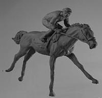 Horse Sculpture - Racing by Goksin Carey