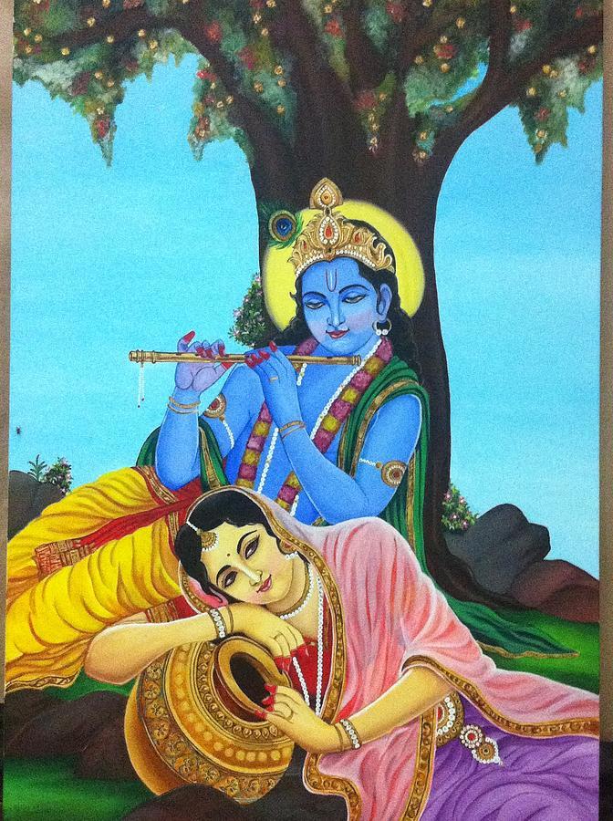 Radha Krishna Painting By Rekha Tanwar