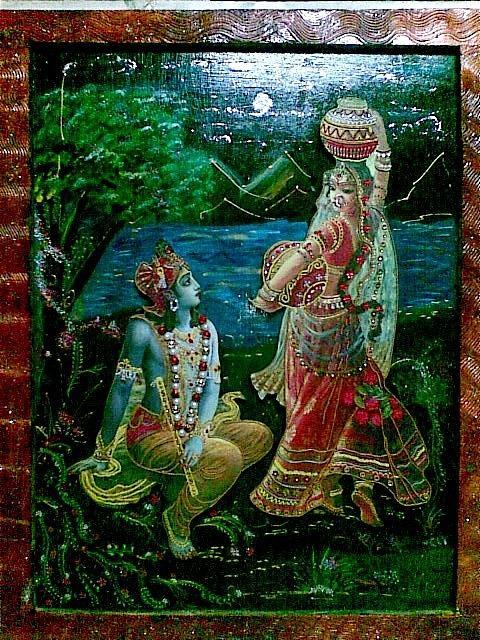 Radha Krishna Painting By Ritu Reema