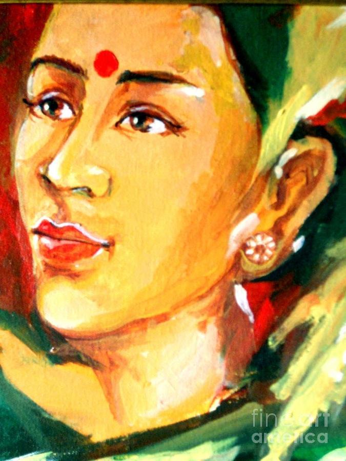 Radha Painting by Manish Verma