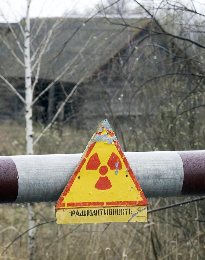 Warning Photograph - Radiation Warning Sign, Belarus by Ria Novosti