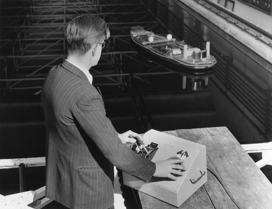 Human Photograph - Radio-controlled Model Tug, 1955 by National Physical Laboratory (c) Crown Copyright