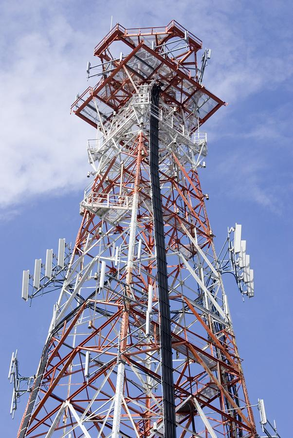 Tower Photograph - Radio Transmitter Mast by Mark Williamson