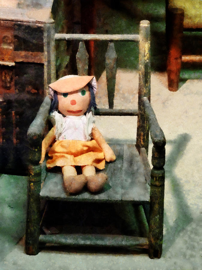 Doll Photograph - Rag Doll In Chair by Susan Savad