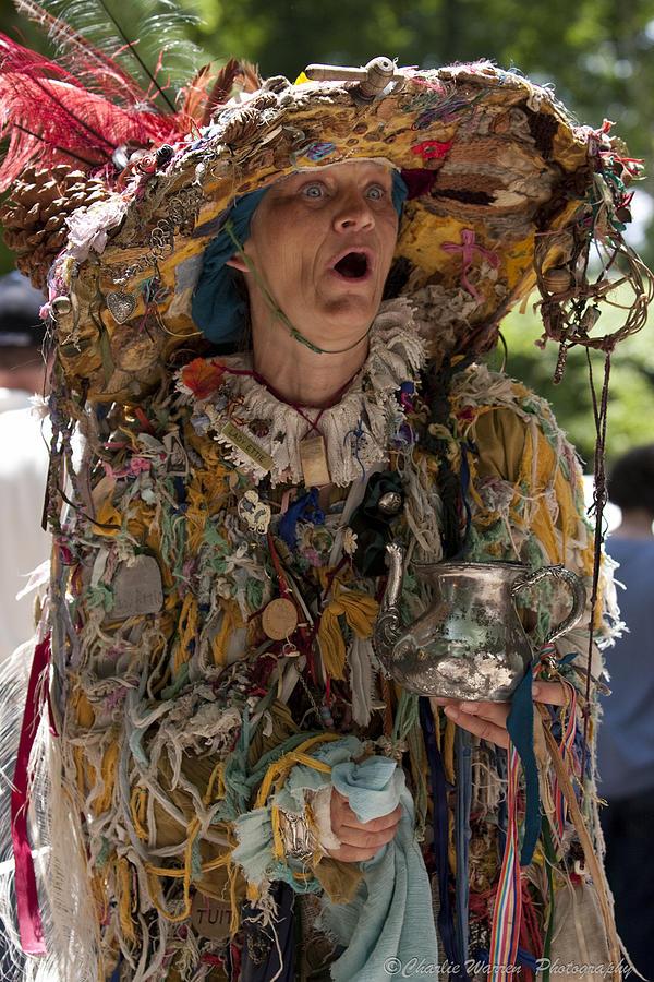 Medeival Photograph - Rag Lady Begging by Charles Warren