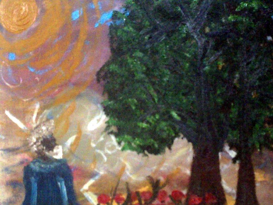 Trees Painting - Rage In Heaven by Violette Meier