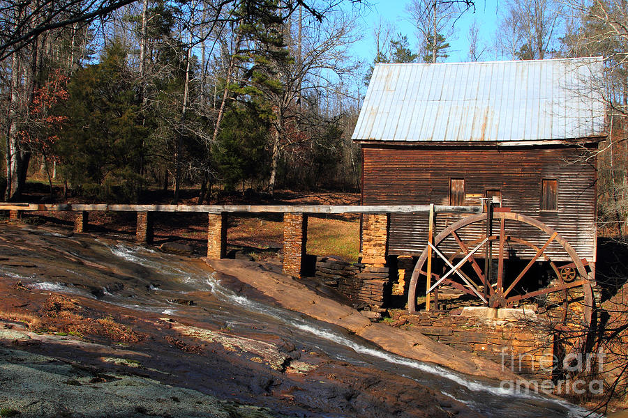 Water Wheel Photograph - Ragsdale Mill by Rick Mann