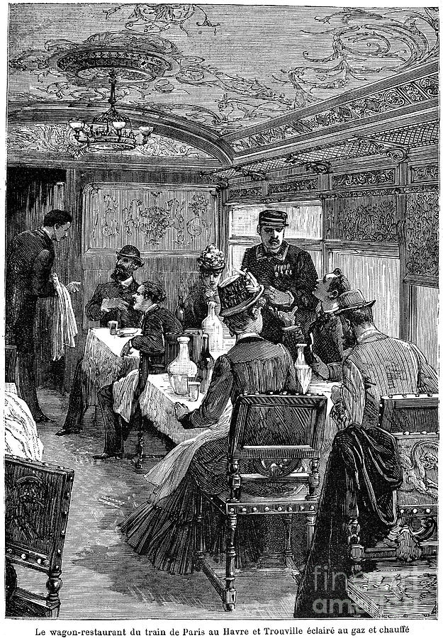1880s Photograph - Railroad: Dining Car, 1880 by Granger