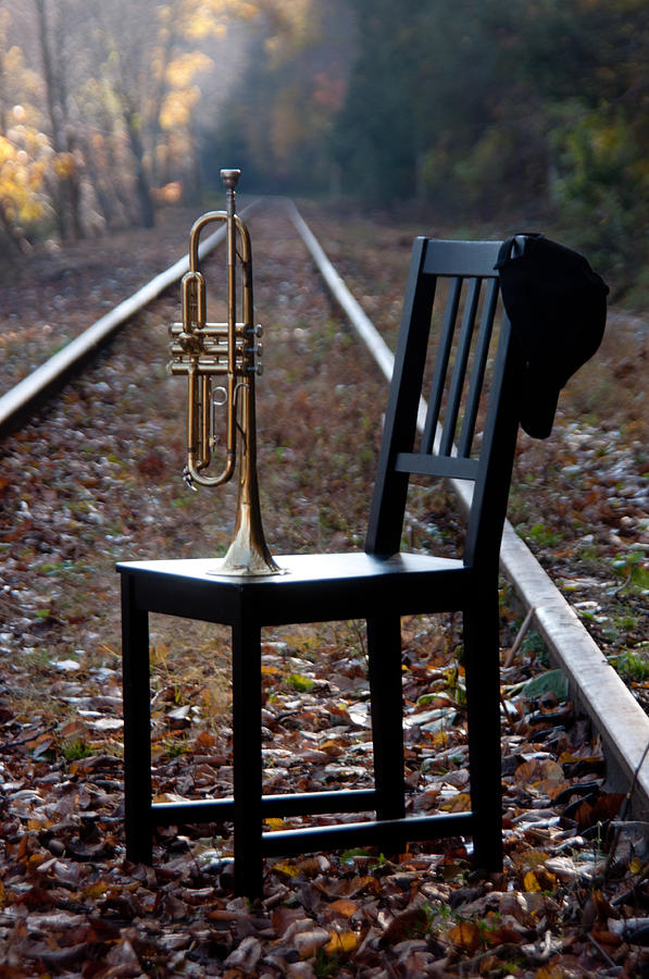 Chair Photograph - Railroad by Ron Smith