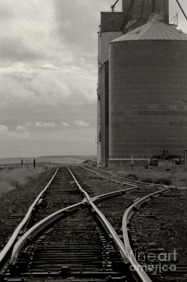 Palouse Photograph - Railroad Tracks Hite Washington by Larry Lawhead