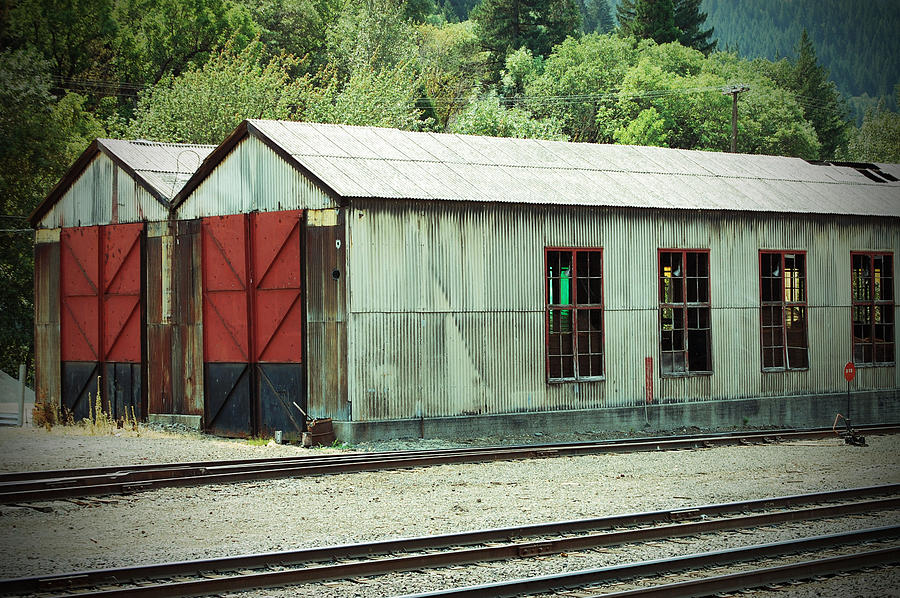 Railroad Photograph - Railroad Woodshed 2 by Holly Blunkall