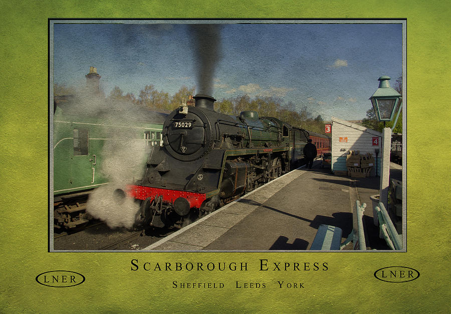 Poster Photograph - Railway Poster by Trevor Kersley