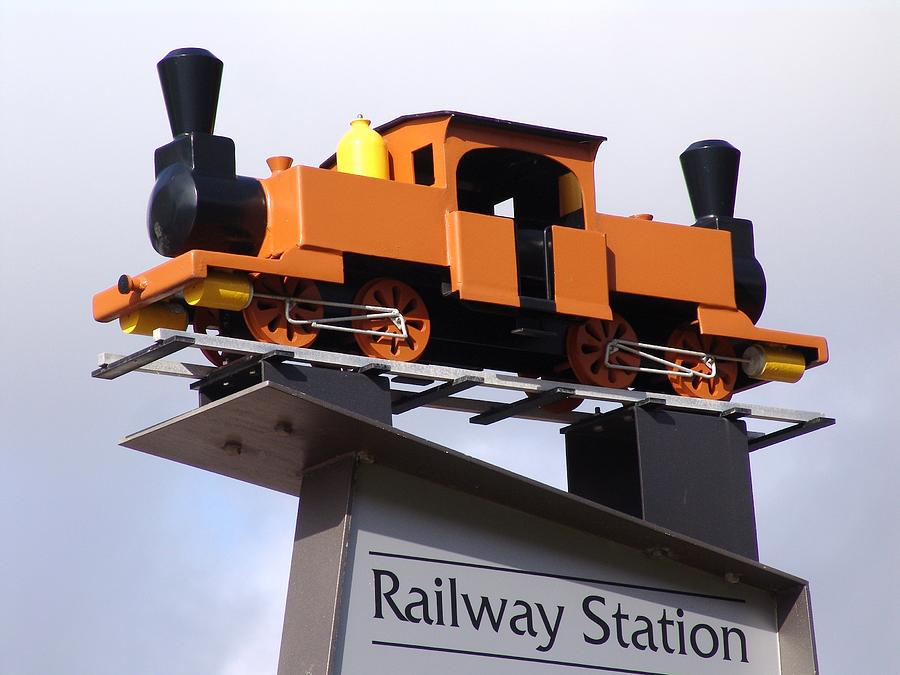 Railway Toy Train Signage - Wellington, Nz Photograph