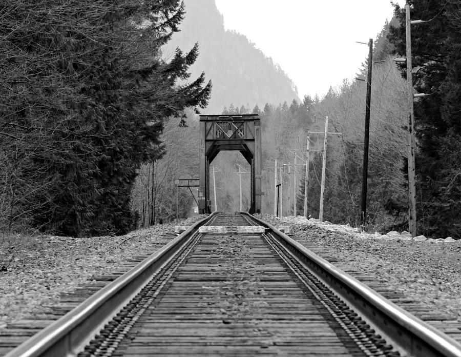 Old Photograph - Railway Track by Paul Fell