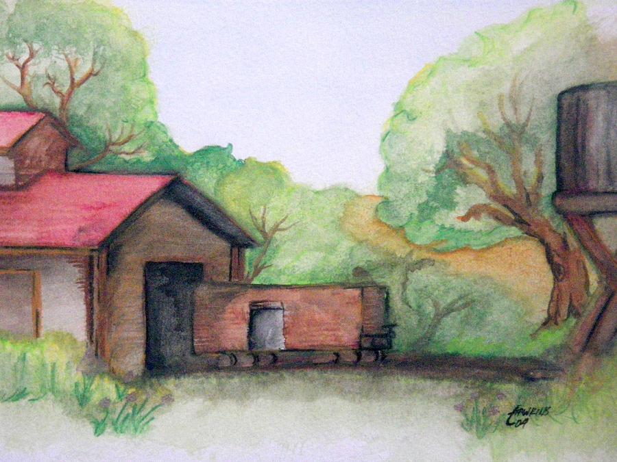 Boxcar Painting - Railyard by Timothy Hawkins