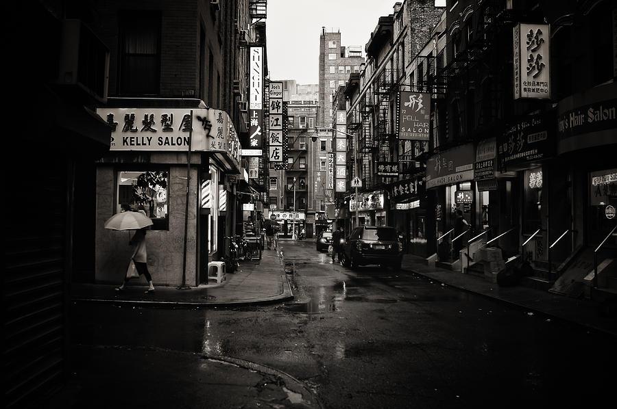 New York City Photograph - Rain - Pell Street - New York City by Vivienne Gucwa