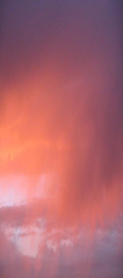 Rain Pyrography - Rain At Sunset by Alissa Beth Fox