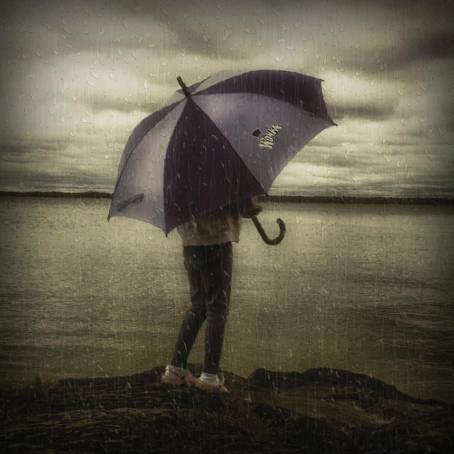 Lake Photograph - Rain Day 2 by Heather  Rivet