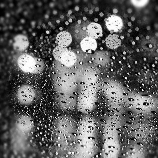 Raining Photograph - Rain Drops #rainy #raining #raindrops by Abdelrahman Alawwad