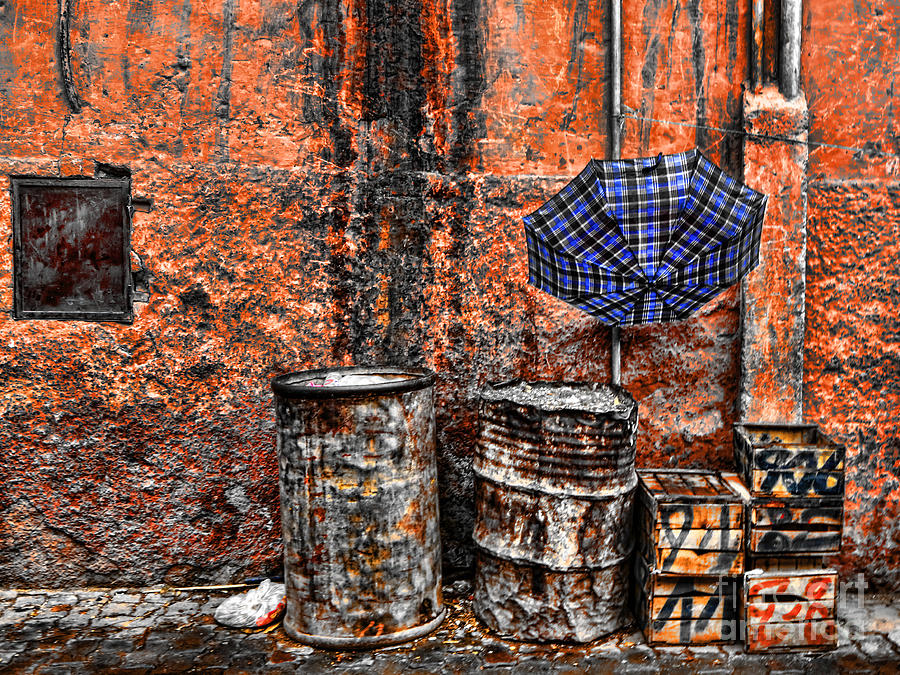 Morocco Photograph - Rain In Marrakesh by Chuck Kuhn