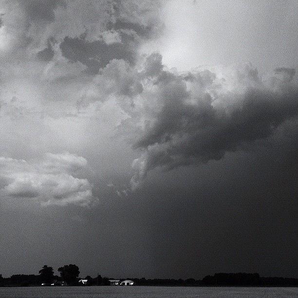 Clouds Photograph - Rain by Lisa Worrell