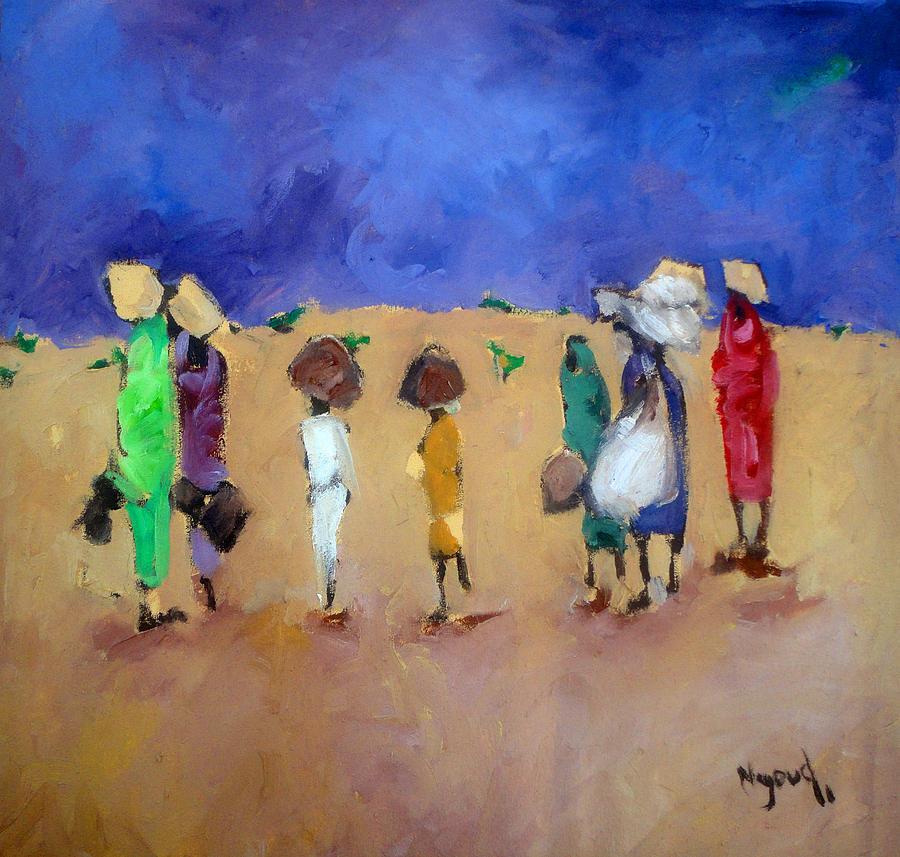 Landscape Painting - Rain  by Negoud Dahab