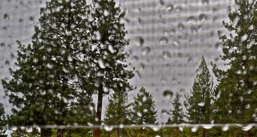 Rain Drops Photograph - Rain On My Windowpane by Kirsten Giving