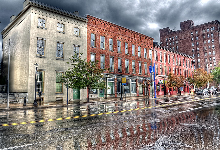 Hdr Photograph - Rain Reflection by Brian Fisher