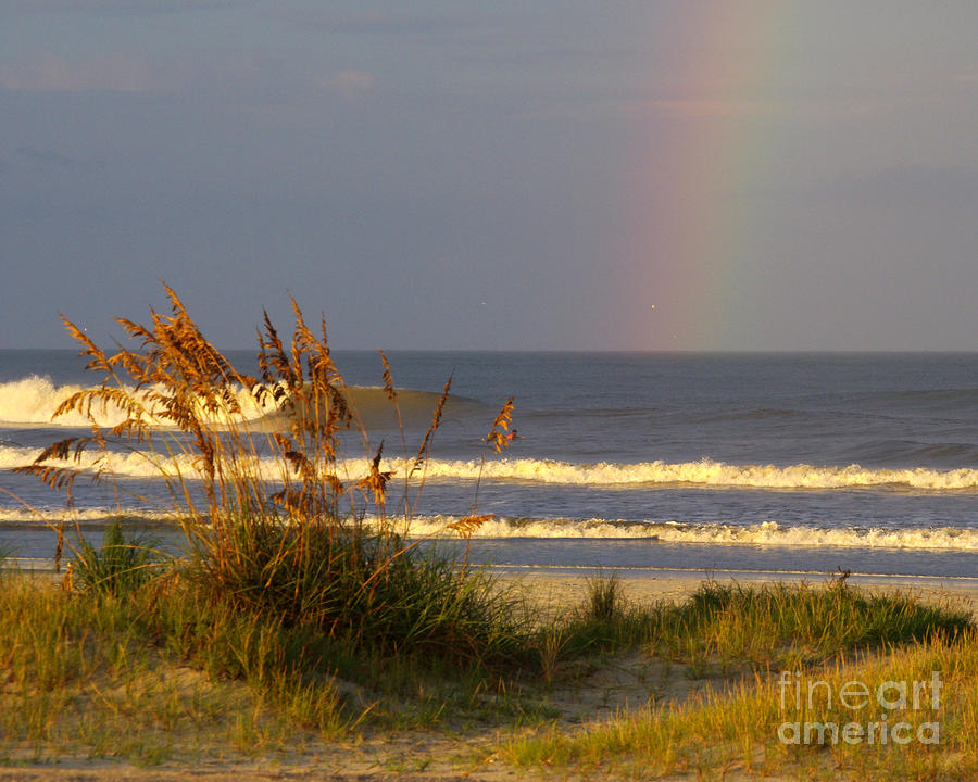Surf Photograph - Rainbow - Saint Augustine Beach by Jon Hartman