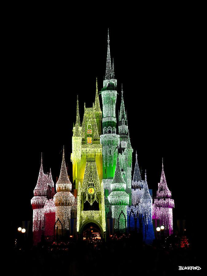 Rainbow Christmas Castle Photograph by Al Blackford