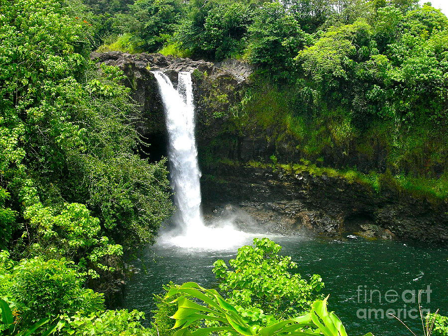 Hawaii Photograph - Rainbow Falls by Silvie Kendall