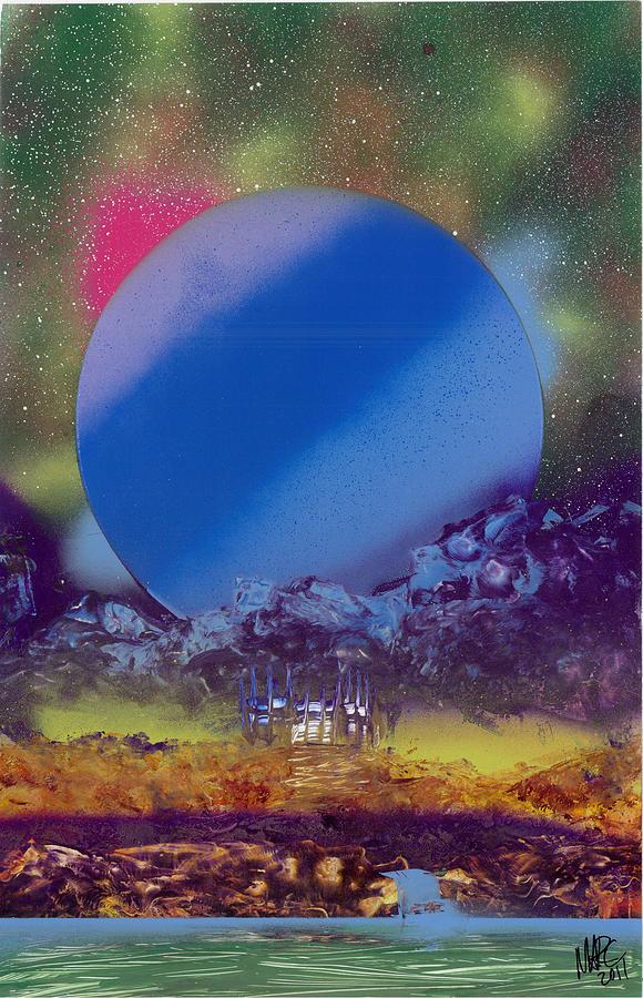 Landscape Painting - Rainbow Nova by Marc Chambers