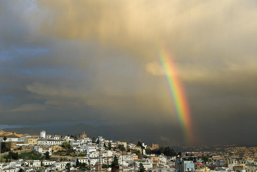 The Alhambra Photograph - Rainbow Over Granada Yesterday by Guido Montanes Castillo