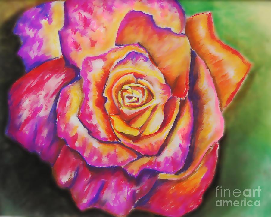 Rose Pastel - Rainbow Rose by Alissa  Skoczelak