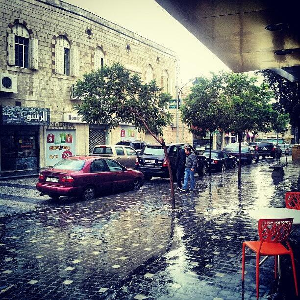 Raining Photograph - Rainbow Street #amman #jo #jordan by Abdelrahman Alawwad