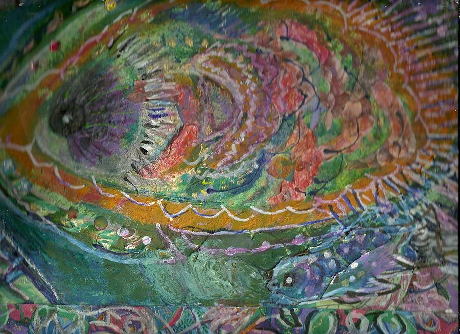 Fish Painting - Rainbow Under Water by Anne-Elizabeth Whiteway