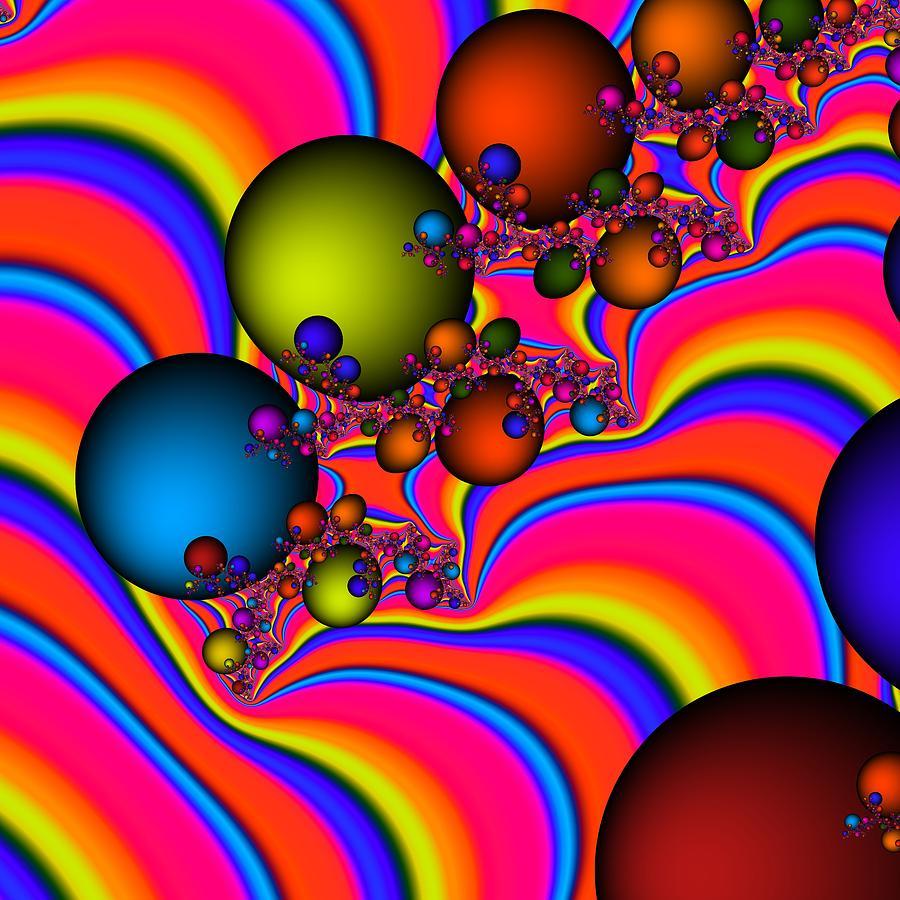 Fractal Digital Art - Rainbow Universe by Christy Leigh