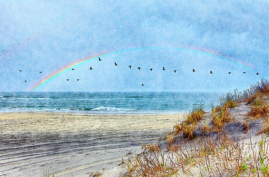 North Carolina Painting - Rainbows And Wings II by Dan Carmichael