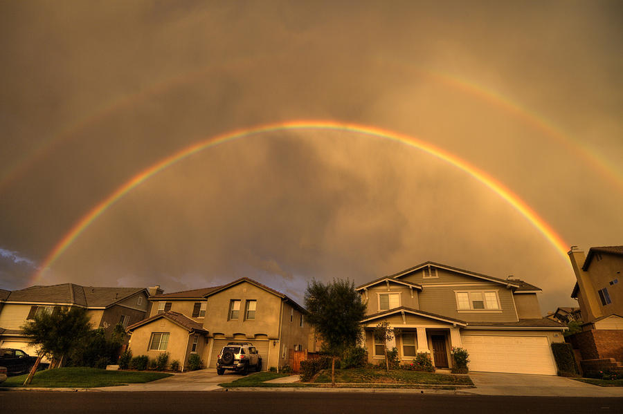 Rainbows Photograph - Rainbows Over Suburbia 2 by Jessica Velasco