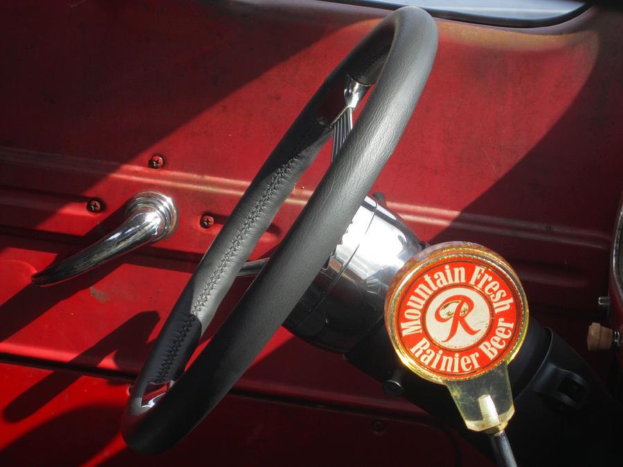 Classic Cars Photograph - Rainier Stick Shift  by Kym Backland