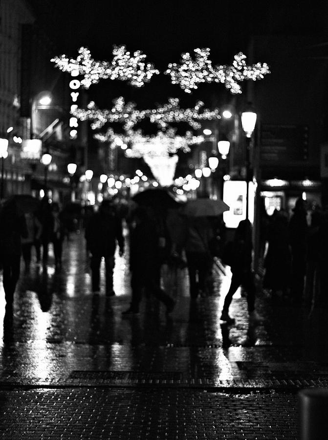 Dublin Photograph - Raining In Dublin by Patrick Horgan