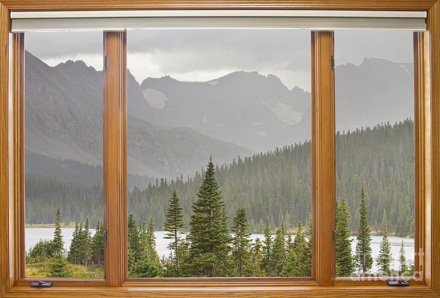 Nice Mountain View Windows #3: Windows Photograph U2013 Rainy Colorado Rocky Mountain Summer Picture Window  View By James BO Insogna