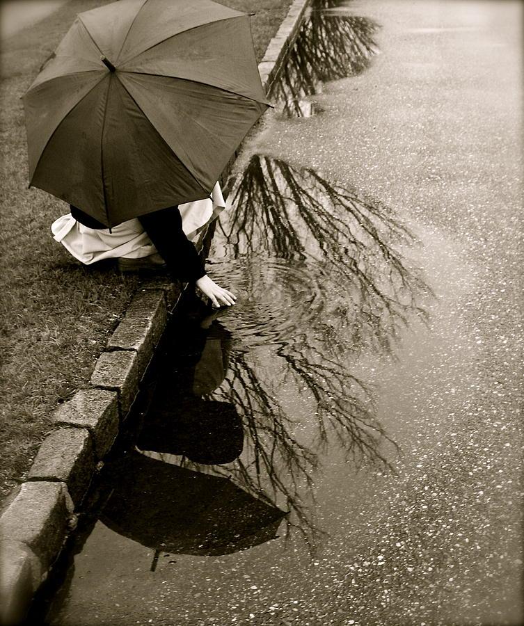 Rain Photograph - Rainy Day Solitude by Susan Elise Shiebler